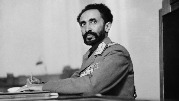 Haile Selassie I of Ethiopia, considered by Rastas to be God.