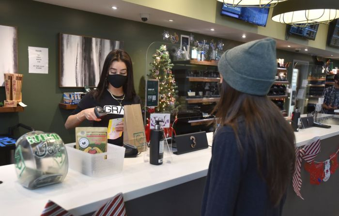 cannabis dispensary with customers