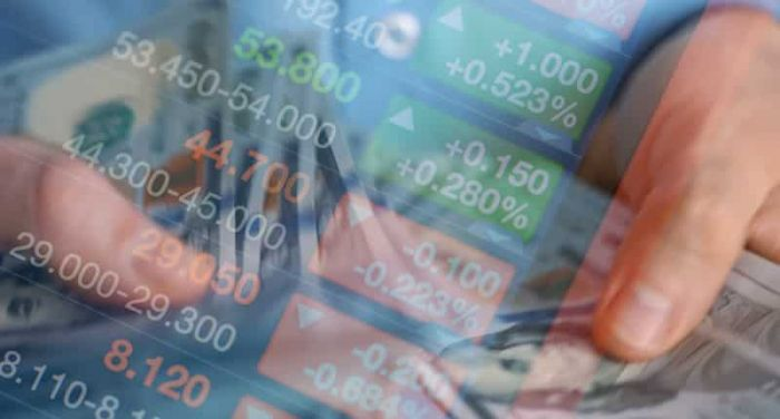 stocks and figures blurred together