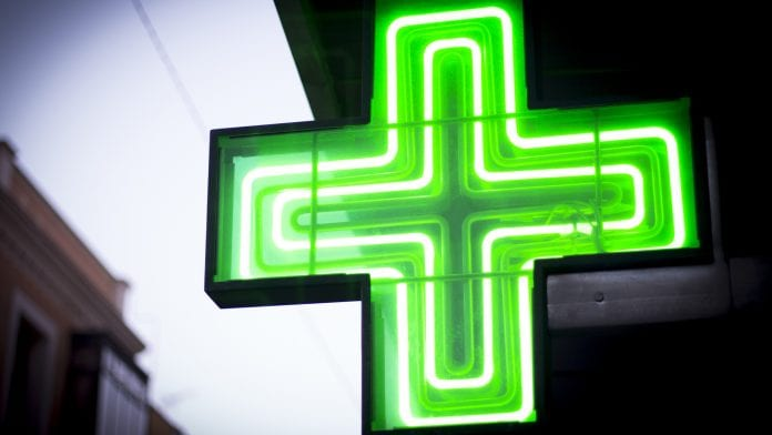 neon medical green cross