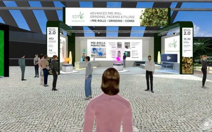 image of a virtual tradeshow conference