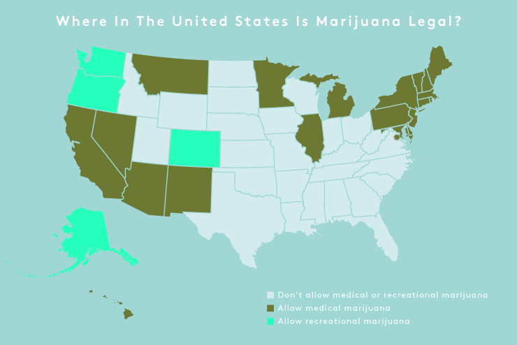 These Are All The States That Have Legalized Weed Marijuana - Weed legalization us map