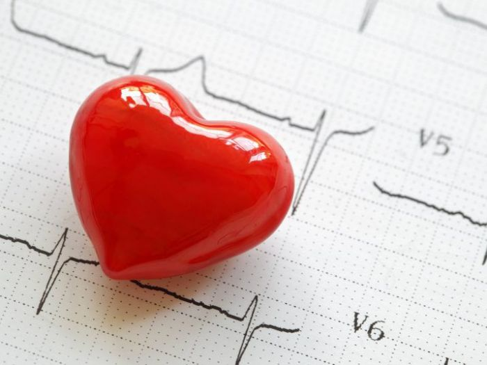 red heart with heart beat sheet