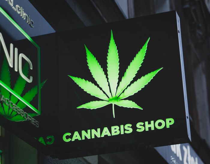 image of cannabis shop sign