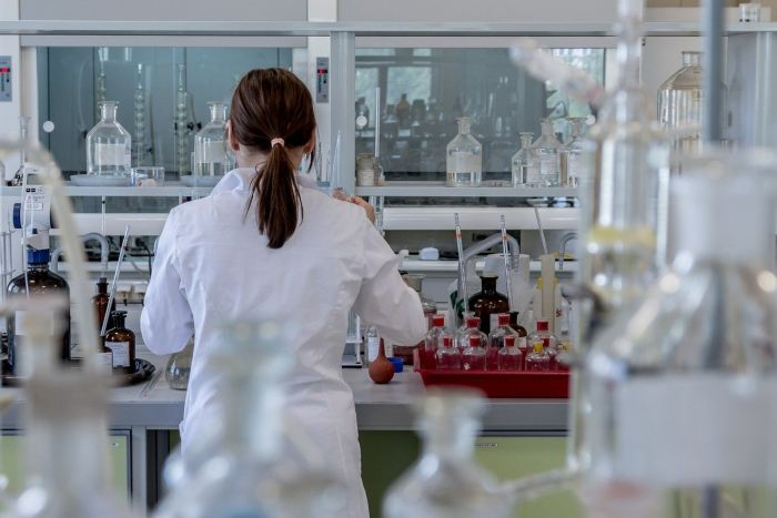 woman working in a lab