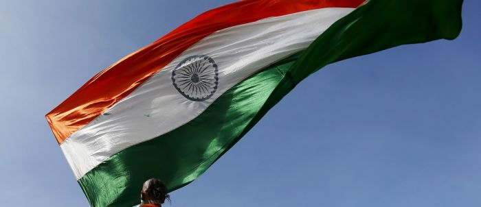Indian flag flying