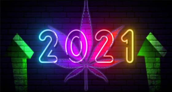 neon sign that says 2021