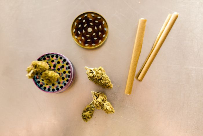 cannabis bud and cigarette